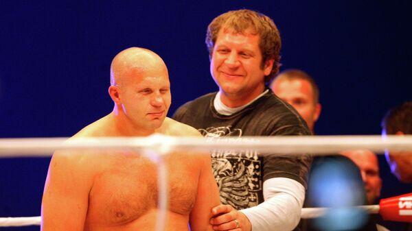 Бойцы Федор и Александр Емельяненко