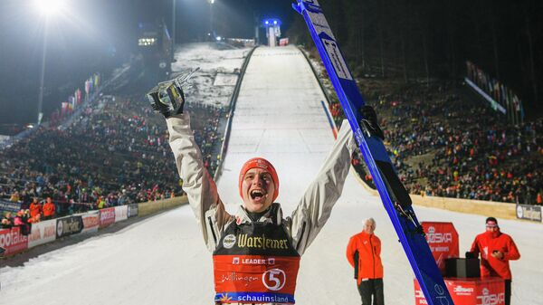 Немецкий летающий лыжник Штефан Ляйхе