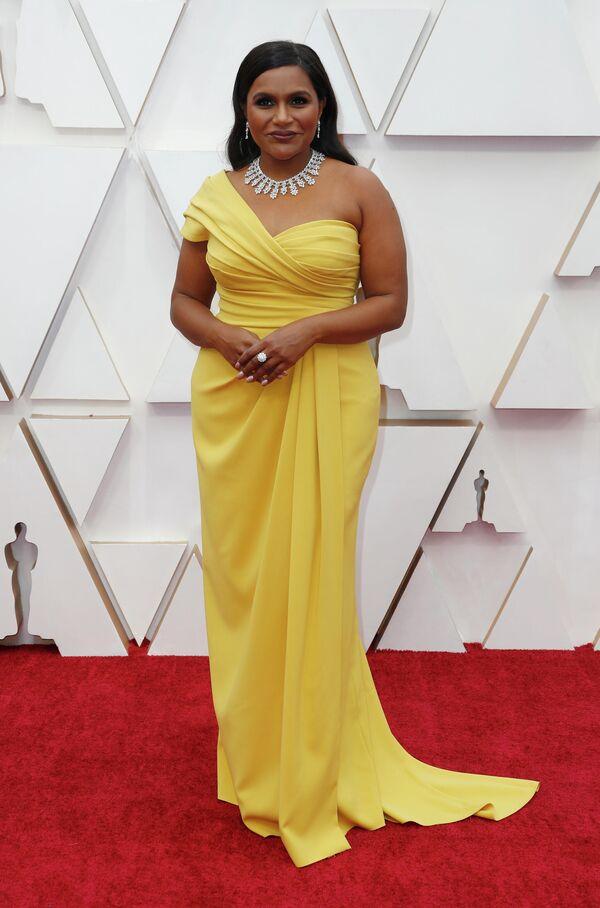 Комедиантка, актриса и сценаристка Минди Калинг на церемонии вручения премии Оскар