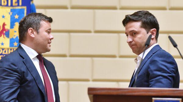 Президент Украины Владимир Зеленский и руководитель администрации президента Украины Андрей Богдан