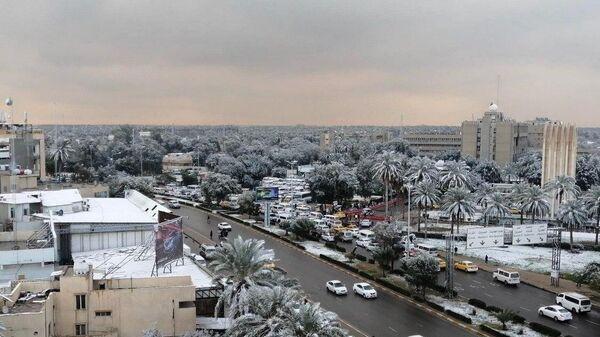 Снегопад в Багдаде