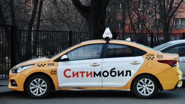 Автомобиль службы такси Ситимобил.