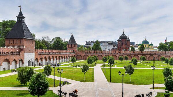 Вид на башни Тульского кремля