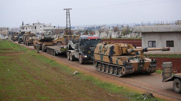 Турецкий конвой в окрестностях Идлиба, Сирия