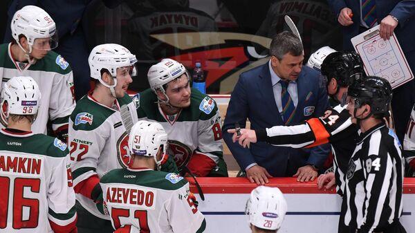 Дмитрий Квартальнов и хоккеисты Ак Барса