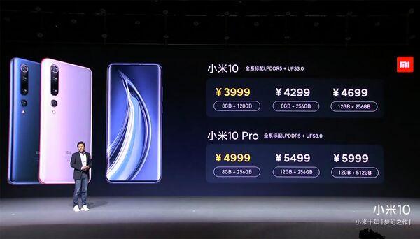 Xiaomi представила флагманские смартфоны Mi 10