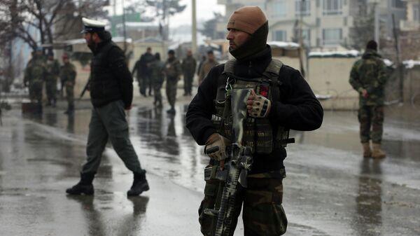 Военнослужащие афганской национальной армии