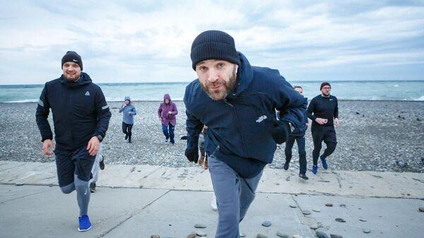 Дмитрий Гусев на пробежке