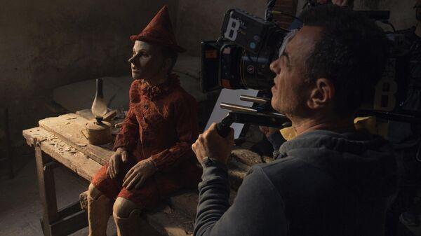 На съемочной площадке фильма Пиноккио