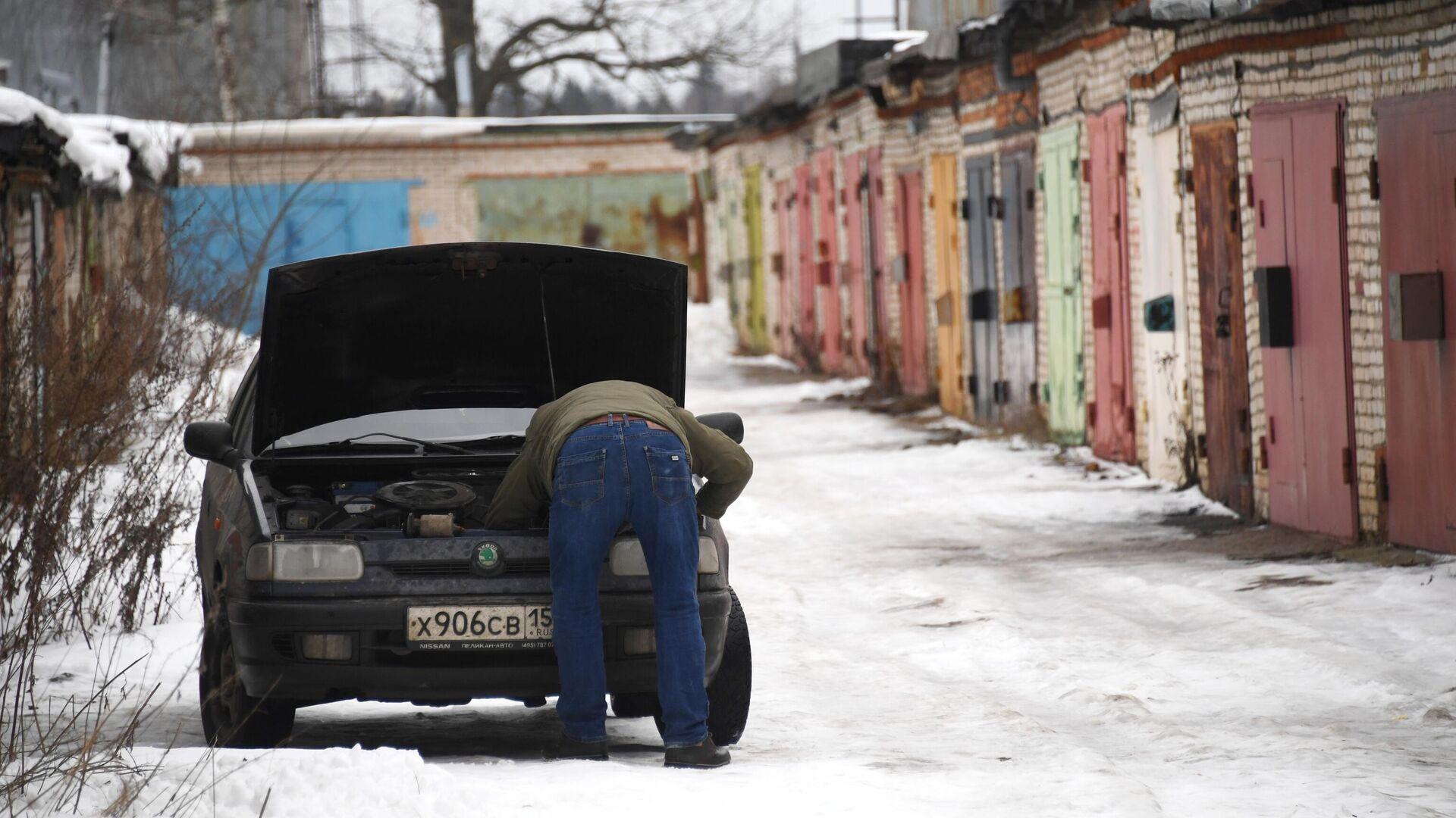 Частные гаражи в Москве - РИА Новости, 1920, 10.01.2021