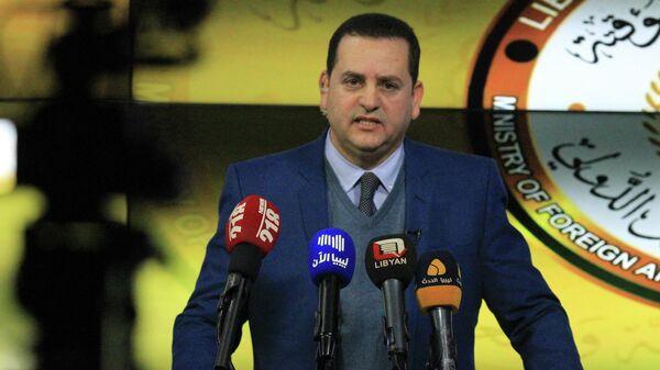 Министр иностранных дел временного правительства Ливии Абдулхади аль-Хувейдж