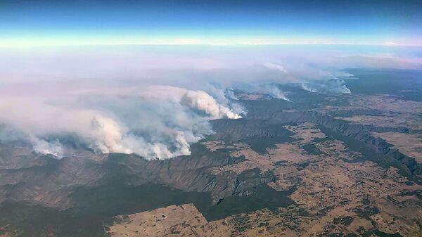 Лесные пожары в северо-восточной части Нового Южного Уэльса в Австралии