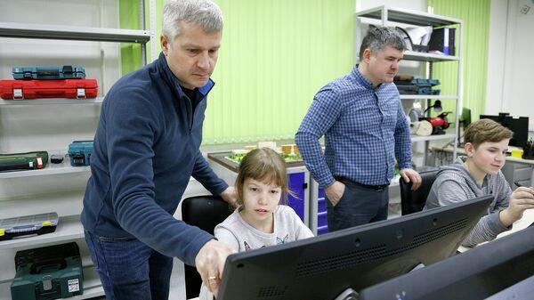 Семейный мастер-класс в детском технопарке