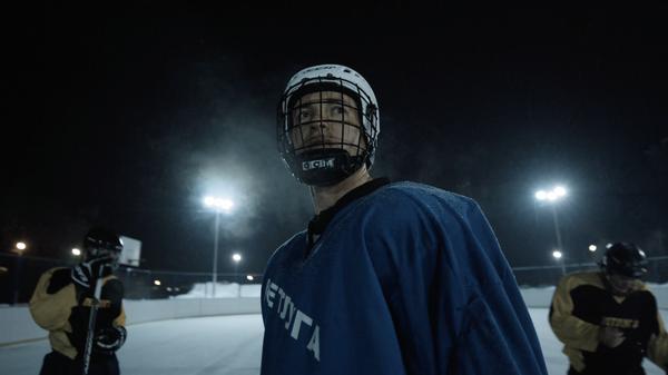 Хоккеист команды Ветлуга, кадр из документального фильма