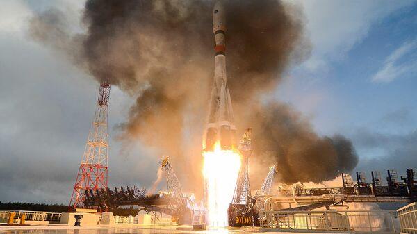 Пуск ракеты-носителя Союз-2 с аппаратом Меридиан-М на космодроме Плесецк. 20 февраля 2020