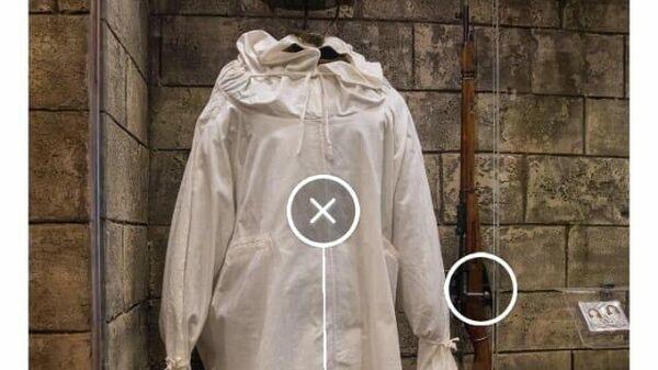 Одежда и вооружение снайпера в приложении Артефакт в Музее Победы