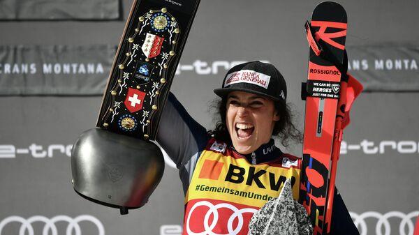 Итальянская горнолыжницы Федерика Бриньоне