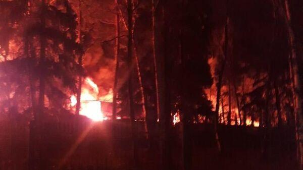 Пожар в городском округе Красногорск, поселок Новый, в ночь с 25 на 26 февраля
