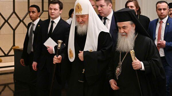 Патриарх Московский Кирилл и патриарх Иерусалимский Феофил в Аммане
