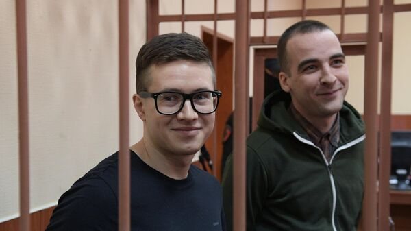 Виктор Филинков и Юлий Бояршинов на выездном заседании Московского окружного военного суда в Санкт-Петербурге