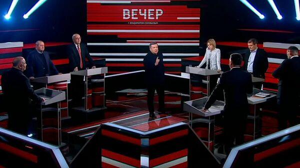Телеведущий Владимир Соловьев выгнал экс-депутата Рады из студии