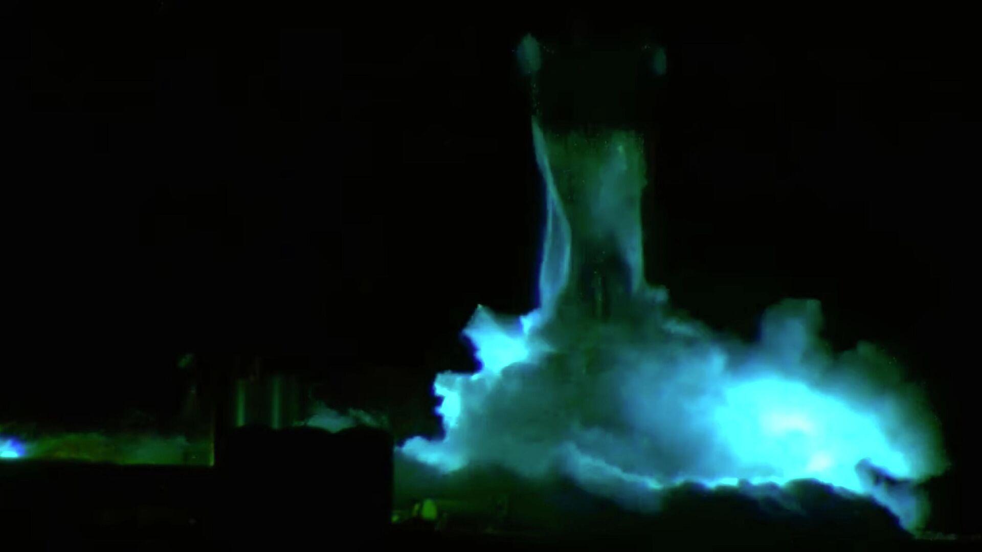 Прототип корабля Starship SN1 во время испытаний в Техасе, США. 28 февраля 2020 - РИА Новости, 1920, 13.09.2020