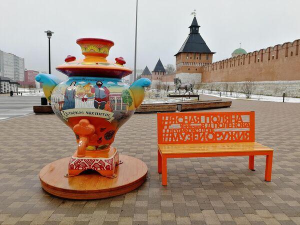 Арт-объект на Казанской набережной в Туле