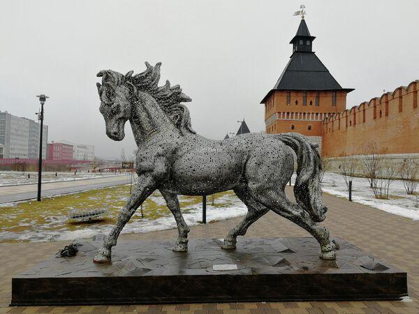 Тула. Арт-объект на Казанской набережной