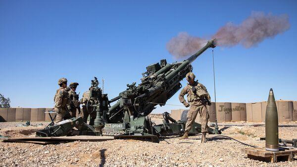 Американские военные о время стрельб на авиабазе Аль-Асад в Ираке