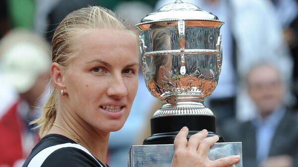 Светлана Кузнецова после победы на Ролан Гаррос-2009