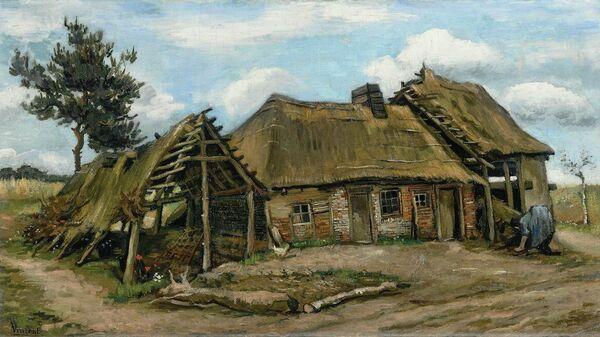 Картина Пейзаж с крестьянским домом