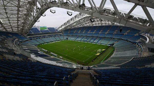 Пустые трибуны стадиона Фишт в Сочи