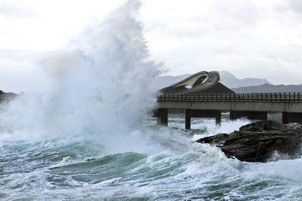 Атлантическая дорога в Норвегии