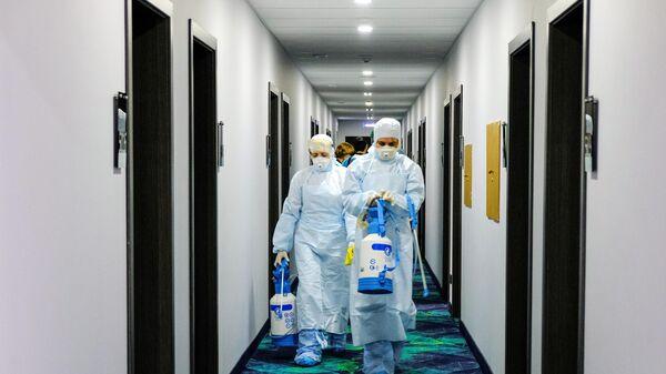 Санитарная обработка в конгресс-отеле Меридиан в центре Мурманск