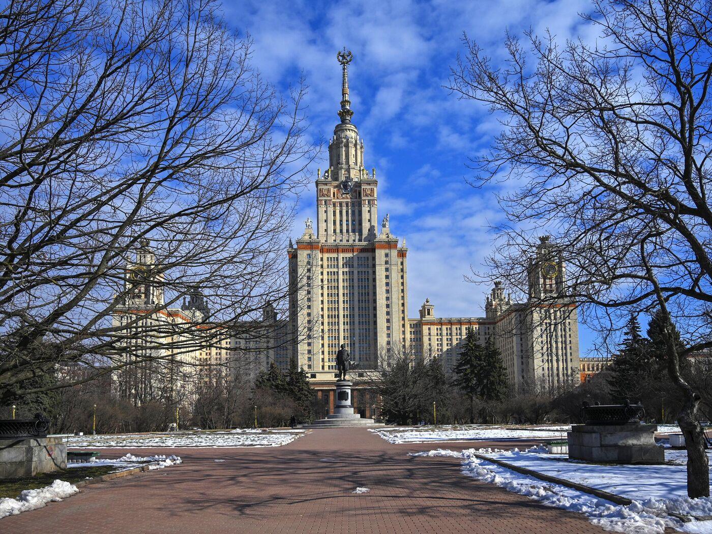 Обои учеба, студент, МГУ, здание, университет. Города foto 9