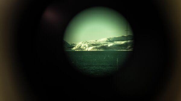 Вид через перископ атомной подводной лодки Северодвинск