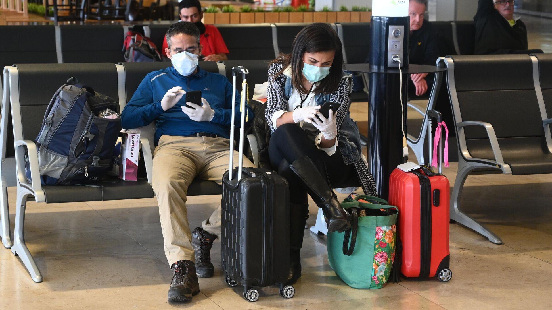 Ситуация в аэропорту Мадрида в связи с коронавирусом - РИА Новости, 1920, 07.06.2021