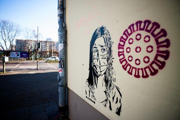 Граффити на стене в Берлине