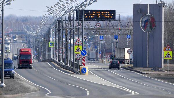 Пункт пропуска Редьки-Красная горка на трассе М1 (Минск – Москва) на белорусско-российской границе