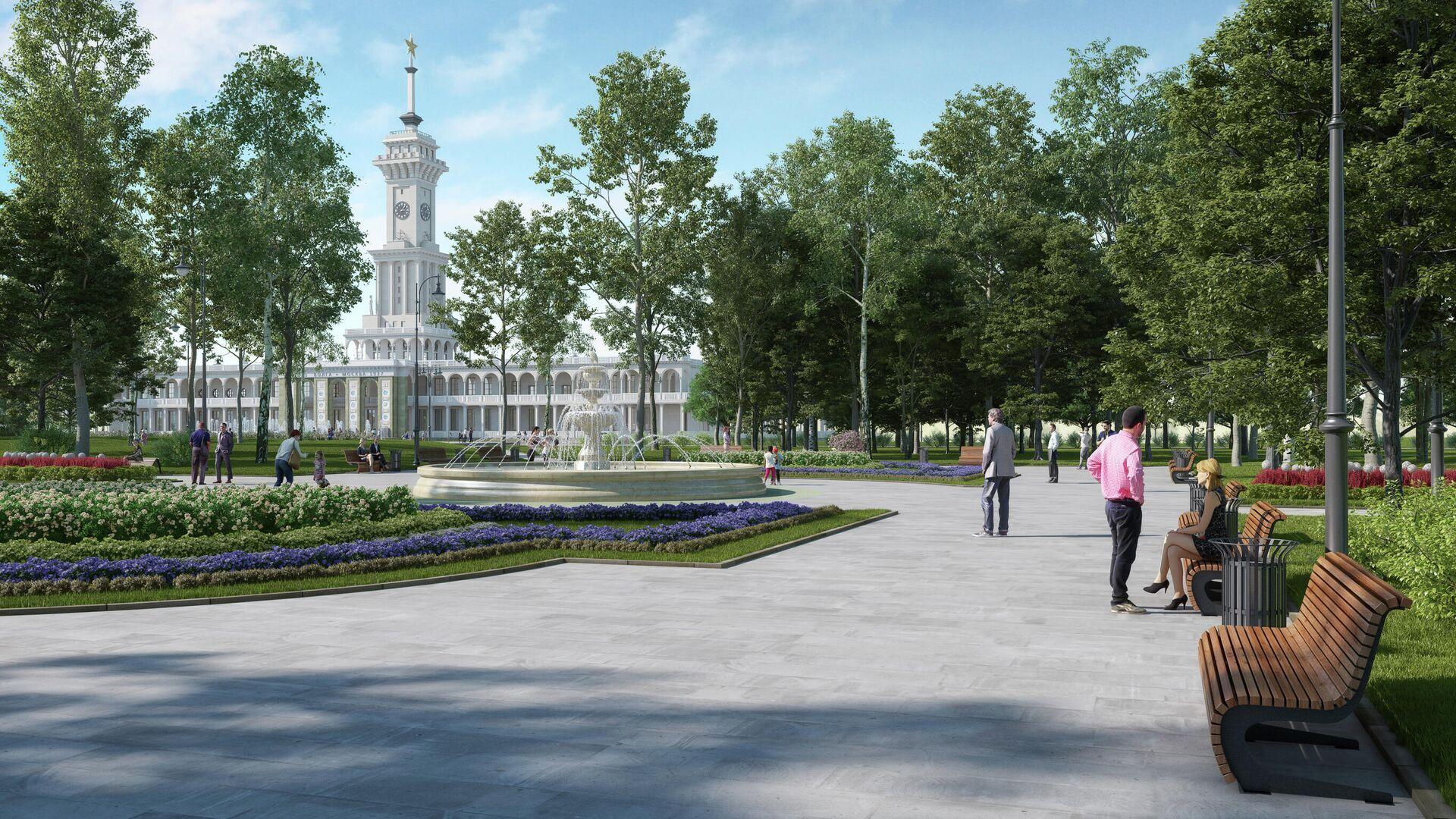 Проект благоустройства парка Северного речного вокзала - РИА Новости, 1920, 25.12.2020