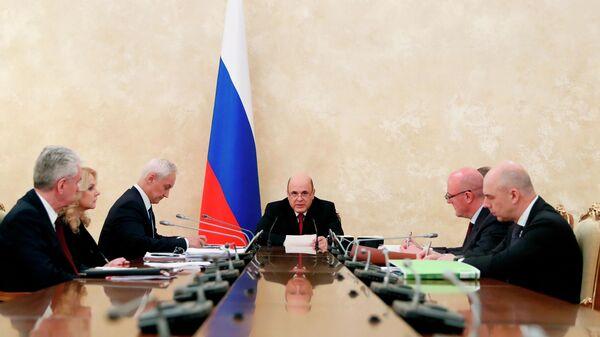 Премьер-министр РФ М. Мишустин провел заседание Координационного совета по борьбе с коронавирусной инфекцией