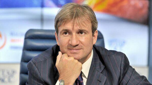 Генеральный директор хоккейного клуба Торпедо Александр Харламов