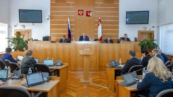 Заседание Законодательного собрания Вологодской области