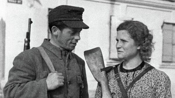 Литовские партизаны в Вильнюсе во время Великой Отечественной войны 1941-1945 годов