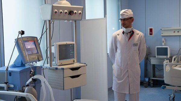 Отделение для больных с подозрением на коронавирусную инфекцию в городской клинической больнице №67 имени Л. А. Ворохобова