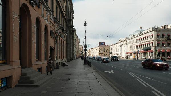 Вид на Невский проспект в Санкт-Петербурге