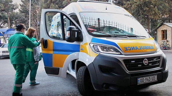 Бригада скорой медицинской помощи на улице Тбилиси