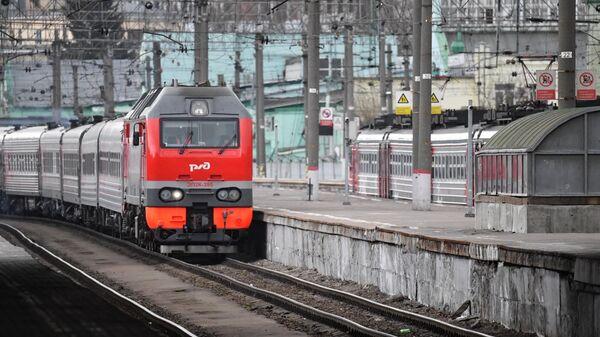 Поезд на Казанском вокзале в Москве
