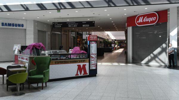 Закрытые магазины в торговом центре