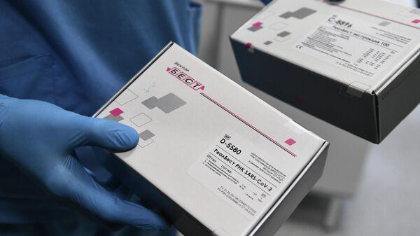 Тест-системы, разработанные Вектор-Бест, используемые для диагностики новой коронавирусной инфекции COVID-19 в Федеральном исследовательском центре фундаментальной и трансляционной медицины СО РАН (ФИЦ ФТМ СО РАН) в Новосибирске